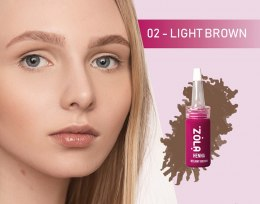 ZOLA Henna do brwi Light Brown
